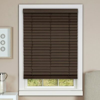 Cordless Faux Wood Venetian Blind Blind Size: 35 W x 64 L, Finish: Mahogany