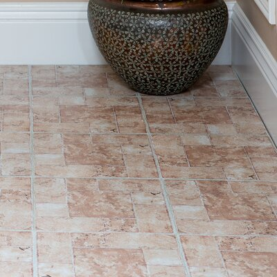 Nexus Self Adhesive 12 x 12 x 1.2mm Vinyl Tile in Beige Terracotta