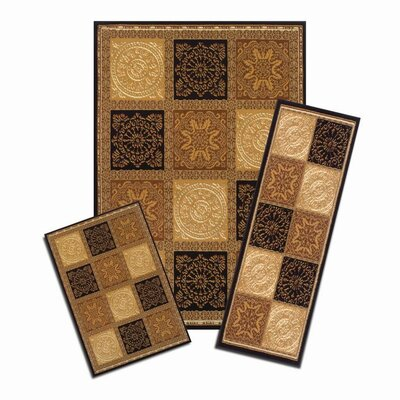 Capri 3 Piece Soho Area Rug Set