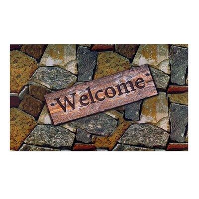 Welcome Quarry Stones Doormat