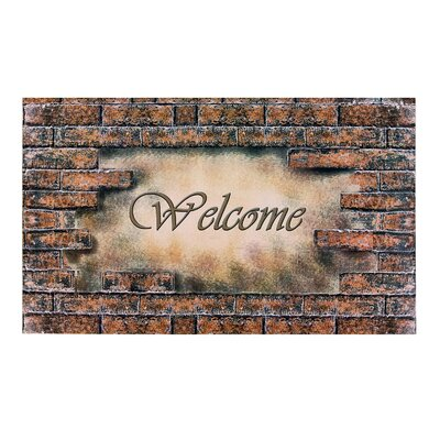 Welcome Bricks Doormat