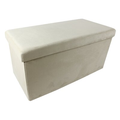 Collapsible Storage Ottoman Upholstery Color: Camel