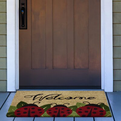 Jalbuena Ladybug Coir Doormat