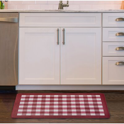 Pickett Anti Fatigue Kitchen Mat Color: Burgundy