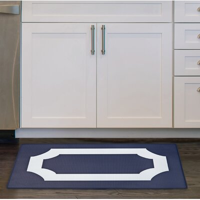 Scally Anti Fatigue Kitchen Mat Color: Navy