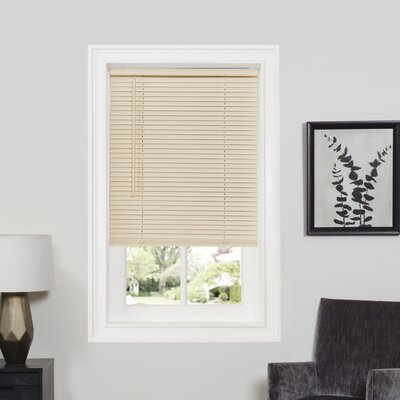 Deluxe Sundown GII Room Darkening Venetian Blind Size: 23 W x 64 L, Color: Alabaster