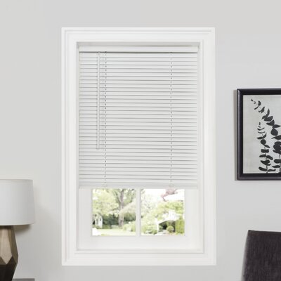 Deluxe Sundown GII Room Darkening Venetian Blind Size: 35 W x 64 L, Color: Pearl White