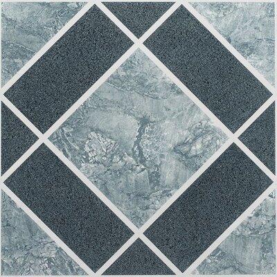 Nexus Diamond Pattern Self Adhesive 12 x 12 x 1.2mm Vinyl Tile in Light/Dark Blue