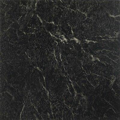 Nexus Self Adhesive 12 x 12 x 1.2mm Vinyl Tile in Black with White Vein Marble