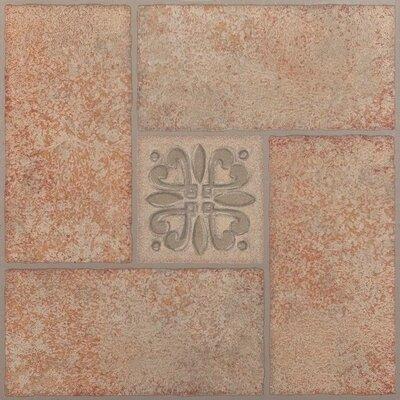 Nexus Motif Center Self Adhesive 12 x 12 x 1.2mm Vinyl Tile in Beige Terracotta