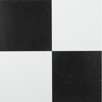 Nexus Self Adhesive 12 x 12 x 1.2mm Vinyl Tile in Black/White