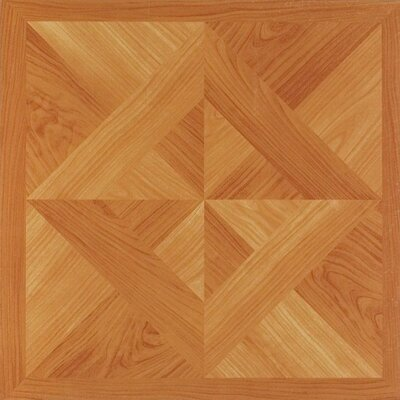 Nexus Classic Diamond Parquet 12 x 12 x 1.2mm Vinyl Tile in Light Oak