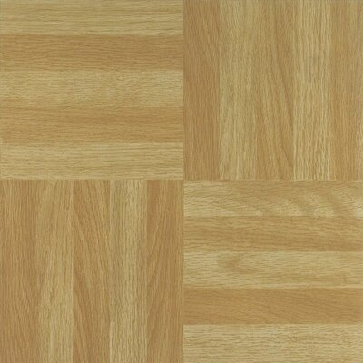 Nexus Four Finger Square Parquet Self Adhesive 12 x 12 x 1.2mm Vinyl Tile in Beige