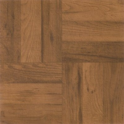 Nexus 3 Finger Parquet Self Adhesive 12 x 12 x 1.2mm Vinyl Tile in Medium Oak