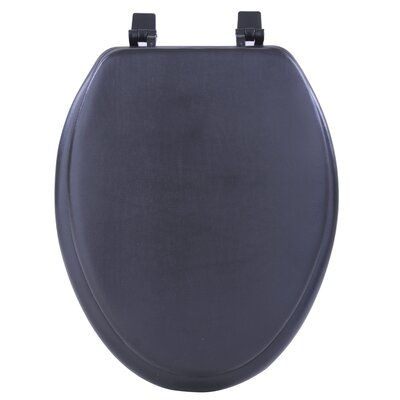 Fantasia Soft Elongated Toilet Seat Finish: Black