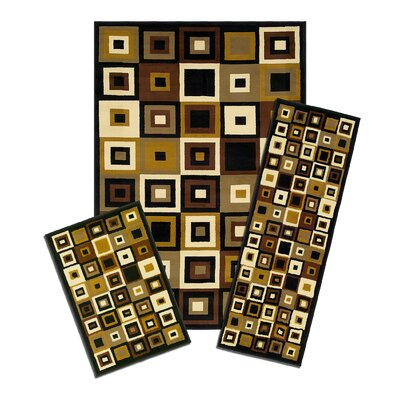 Capri 3 Piece SW Tiles Area Rug Set