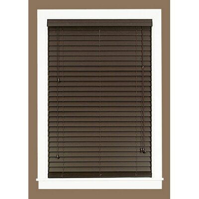 2 Faux Wood Plantation Venetian Blind Blind Size: 48 W x 64 L, Finish: Mahogany