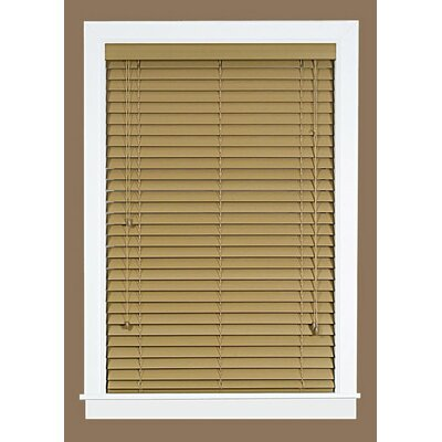 2 Faux Wood Plantation Venetian Blind Blind Size: 46 W x 64 L, Finish: Maple