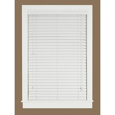 2 Faux Wood Plantation Venetian Blind Blind Size: 34 W x 64 L, Finish: White