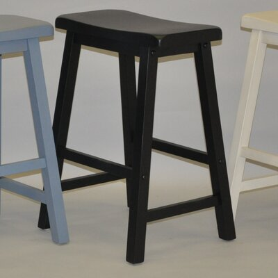 Carrolltown 24 Bar Stool (Set of 2) Finish: Antique Black