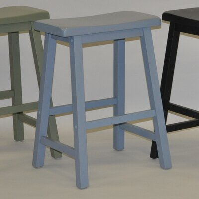 Carrolltown 24 Bar Stool (Set of 2) Finish: Antique Blue