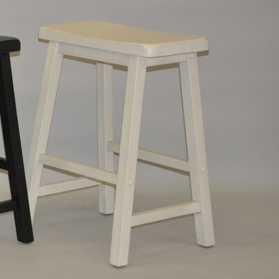 Carrolltown 24 Bar Stool (Set of 2) Finish: Antique White