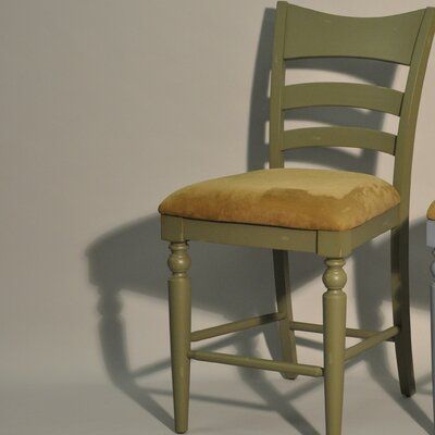 Stonebridge Counter Height Side Chair (Set of 2) Finish: Antique Green