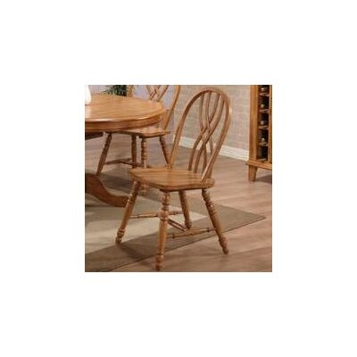 Rustic Oak Solid Wood Dining Chair (Set of 2)