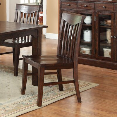 Tremper Slat Solid Wood Dining Chair (Set of 2)