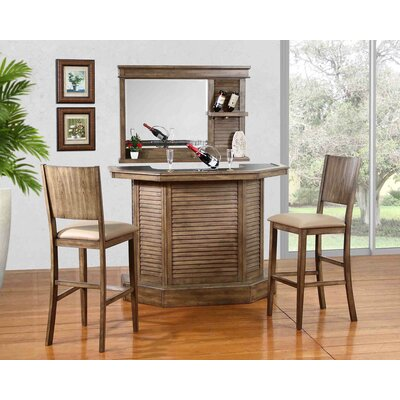 Ashburn Valley Bar Set with Bar Stools