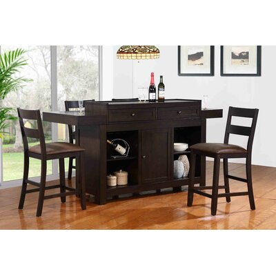 Hibatachi Bar Set with Bar Stools