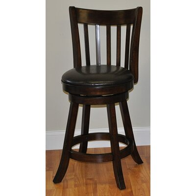 24 Swivel Bar Stool (Set of 2) Finish: Distressed Walnut