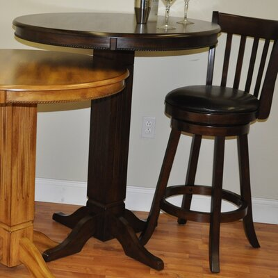 Adjustable Height Pub Table Finish: Distressed Walnut