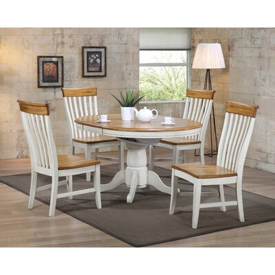 Four Seasons Side Chair (Set of 2) Finish: Antique White