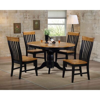 Four Seasons Side Chair (Set of 2) Finish: Rubbed Black