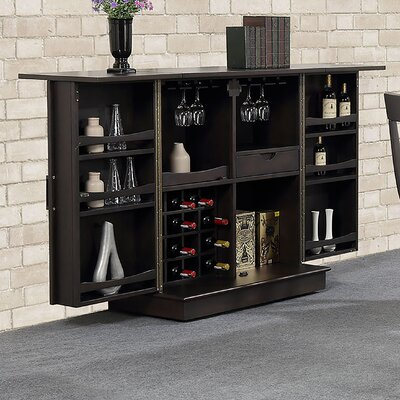 Rum Point Expandable Bar with Wine Storage