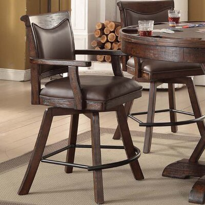 Gettysburg 24 Swivel Bar Stool (Set of 2)