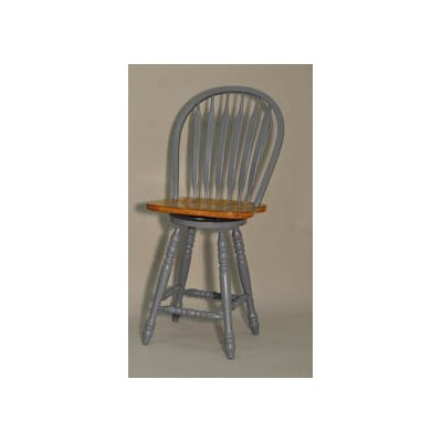 Arrowback 24 Swivel Bar Stool (Set of 2) Finish: Blue