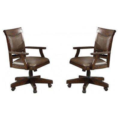 eci furniture gettysburg swivel game chair set of 2