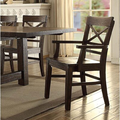 Anteus Rustic X Back Dining Chair (Set of 2)