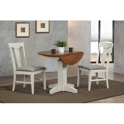 Yvonne Drop Leaf Dining Table Color: Antique White