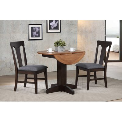 Yvonne Drop Leaf Dining Table Base Color: Black Oak
