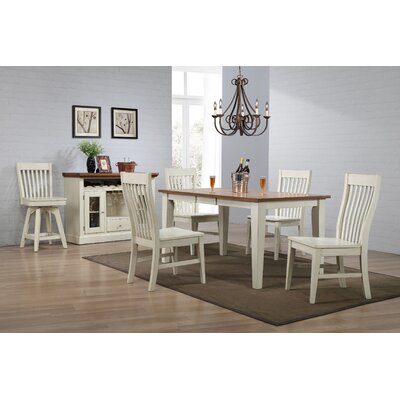 Yvonne Leg Dining Table Base Color: Antique White