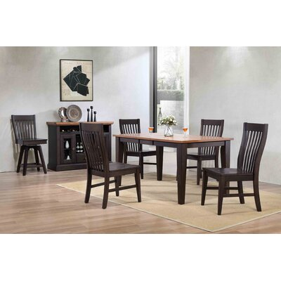 Yvonne Leg Dining Table Base Color: Black Oak