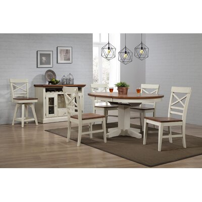 Yvonne Round Dining Table Color: Antique White
