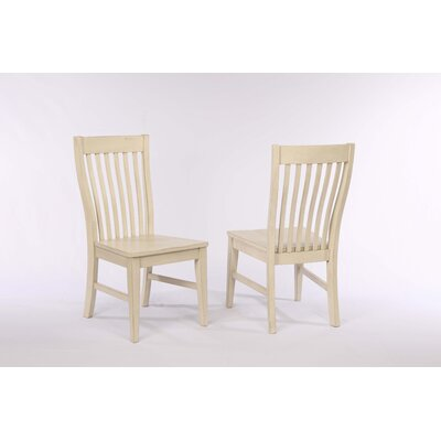 Yvonne Slat Back Dining Chair (Set of 2) Color: Antique White