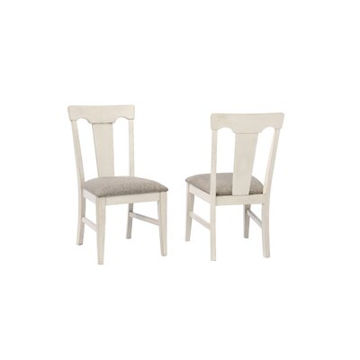 Yvonne Panel Back Dining Chair (Set of 2) Color: Antique White