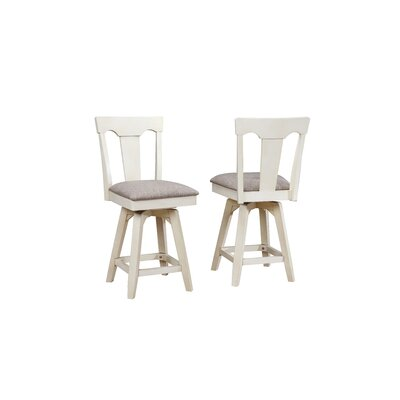 Yvonne Panel Back Wood Dining Chair (Set of 2) Color: Antique White