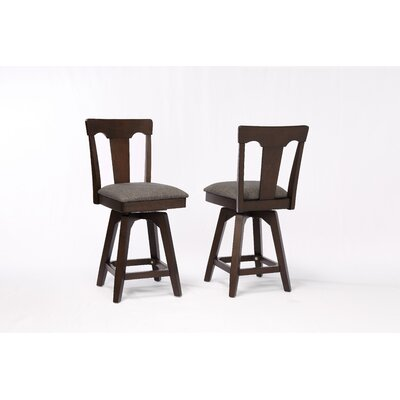 Yvonne Panel Back Wood Dining Chair (Set of 2) Color: Black Oak