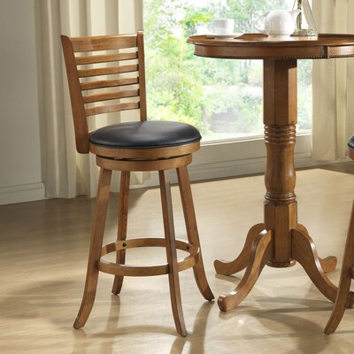 Bad credit financing Burnished Oak Ladder Back Stool (Se...